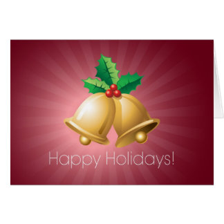 Happy Holidays Bells Card