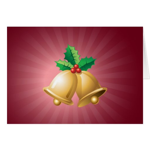 Happy Holidays Bells Cards