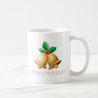 Happy Holidays Bells Coffee Mug