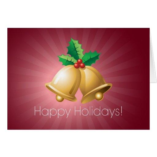 Happy Holidays Bells Greeting Card