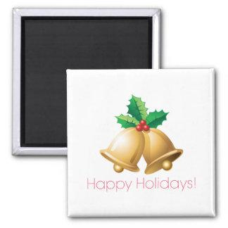 Happy Holidays Bells Fridge Magnet