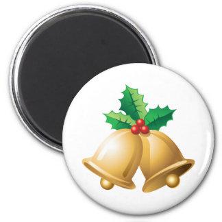 Happy Holidays Bells Refrigerator Magnets