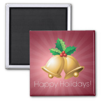 Happy Holidays Bells Refrigerator Magnet