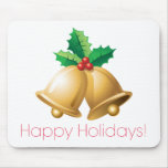 Happy Holidays Bells Mouse Pad