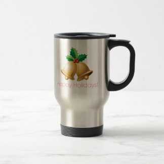 Happy Holidays Bells Coffee Mugs