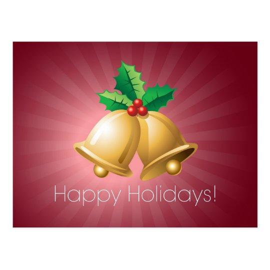 Happy Holidays Bells Postcard