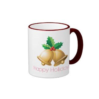 Happy Holidays Bells Ringer Mug