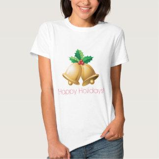 Happy Holidays Bells Tee Shirt