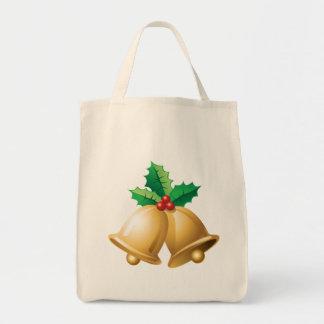 Happy Holidays Bells Tote Bag
