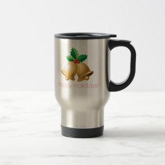 Happy Holidays Bells Travel Mug