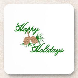 Happy Holidays Beverage Coaster