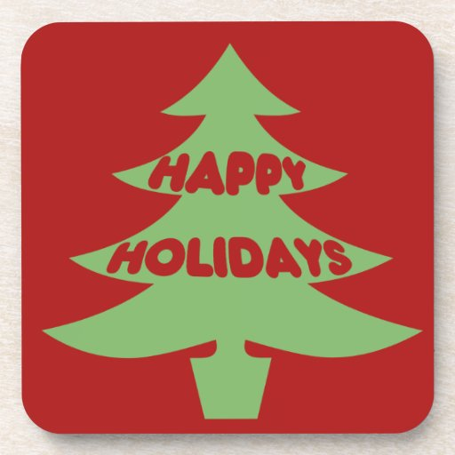 Happy Holidays Beverage Coasters