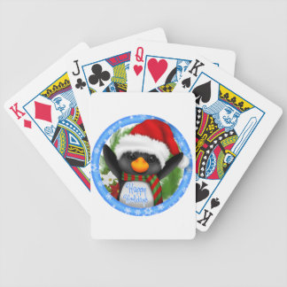 Happy Holidays Bicycle Poker Cards
