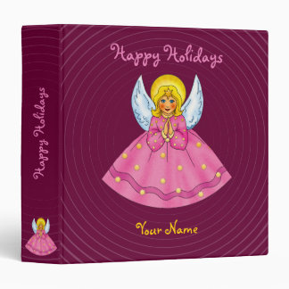 Happy Holidays - Binder with angel