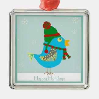 Happy Holidays Birdie Ornament