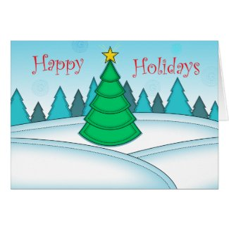 Happy Holidays Blank Card