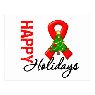 Happy Holidays Blood Cancer Awareness Postcard