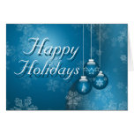 Happy Holidays Blue Cards