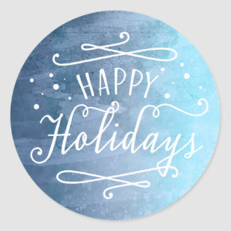 Happy Holidays | Blue Favor Sticker