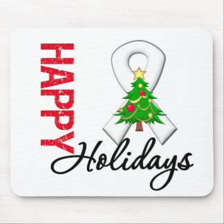 Happy Holidays Bone Cancer Awareness Mousepad