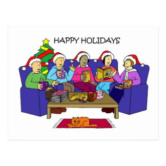Happy Holidays Book Group Postcard