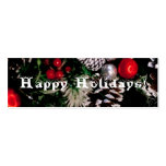 Happy Holidays bookmark Business Card Templates