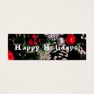 Happy Holidays bookmark Mini Business Card