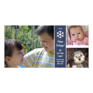 Happy Holidays - border for 3 photos Card