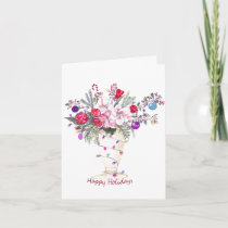 Happy Holidays Bouquet Holiday Card