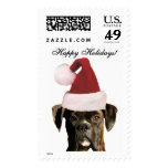 Happy Holidays Boxer dog large stamps