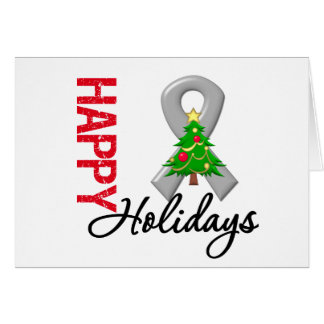 Happy Holidays Brain Cancer Awareness Greeting Cards