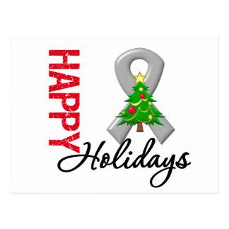 Happy Holidays Brain Cancer Awareness Postcard