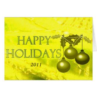 Happy Holidays Bright Season Card