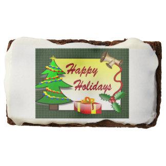 Happy Holidays Brownies