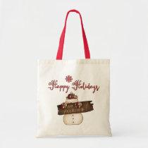 happy, holidays, budget, tote, christmas, bag, tote-bag, gift, family, shopping, Bag with custom graphic design