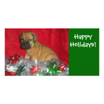 Happy Holidays - Bullmastiff Card
