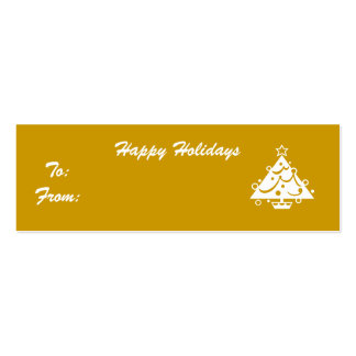 Happy Holidays Double-Sided Mini Business Cards (Pack Of 20)