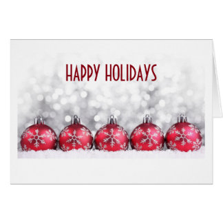 HAPPY HOLIDAYS BUSINESS STYLE CARD