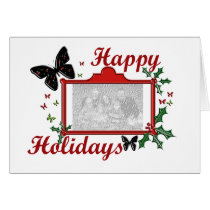 Happy Holidays Butterfly Card