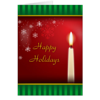 Happy Holidays by Candle Light Card