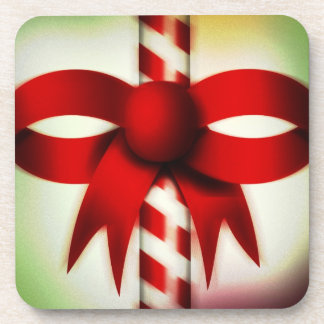 Happy Holidays Candy Cane Drink Coaster