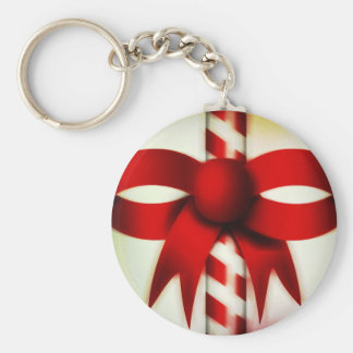 Happy Holidays Candy Cane Keychain