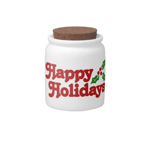 Happy Holidays Candy Dishes