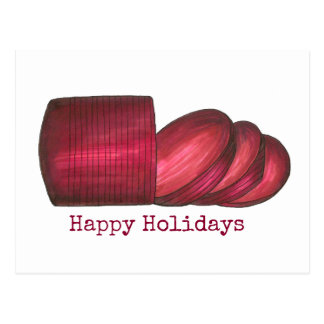 Happy Holidays Canned Cranberry Sauce Postcard