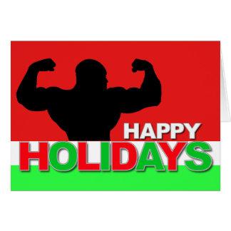 Happy Holidays Card Bodybuilder 1