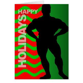 Happy Holidays Card Bodybuilder 2