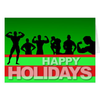 Happy Holidays Card Bodybuilder 3
