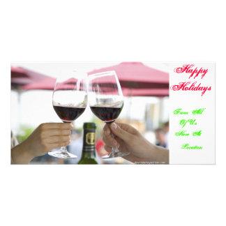 Happy Holidays Card Custom Photo Card