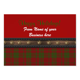 Happy Holidays card from business plaid