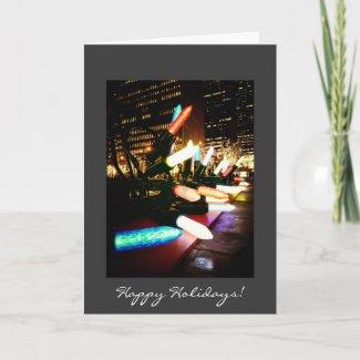 Happy Holidays Card - Holiday Lights - New York card